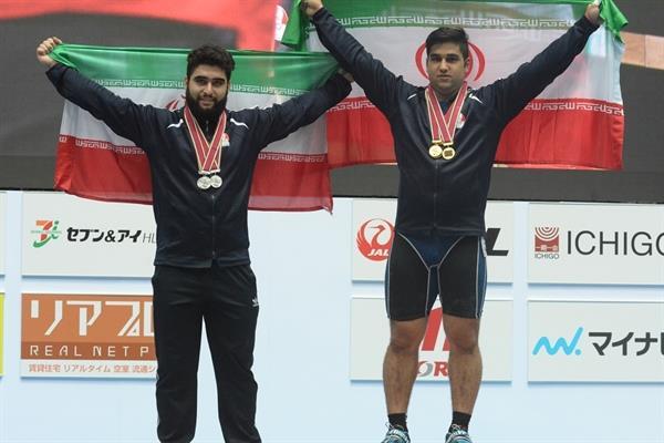 قدرتنمایی پسران وزنه برداری ایران در دسته 105 کیلوگرم