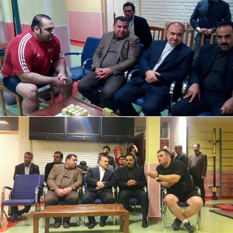 وزیر ورزش در اولین بازدید خود سرزده به اردوی وزنه برداری آمد