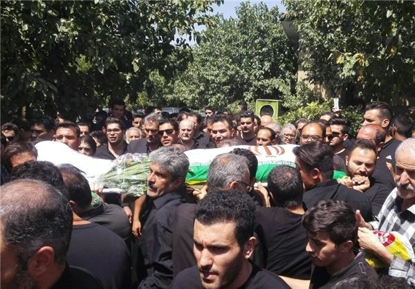 پیکر زنده یاد فلاحتی نژاد به خاک سپرده شد