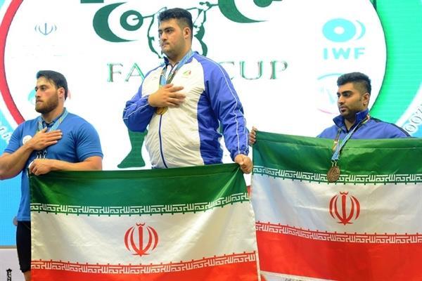 8 مدال دسته 105+ بر سینه وزنه برداران ایرانی