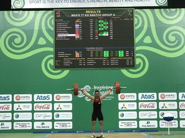 مسابقات وزنه برداری قهرمانی بزرگسالان آسیا- ترکمنستان