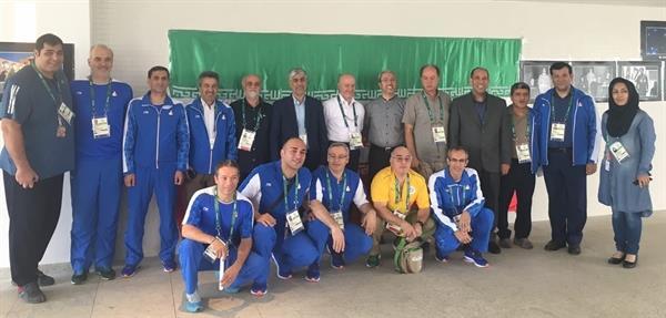 حضور رییس فدراسیون و مسئول کمیته پزشکی در جمع ستاد اجرایی کاروان ایران