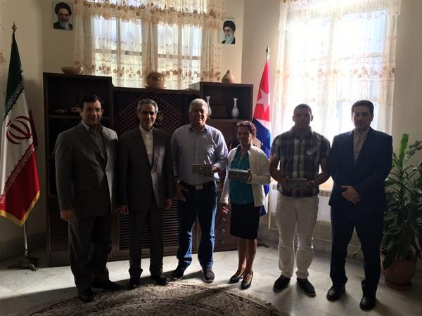 دیدار علی مرادی با رییس فدراسیون وزنه برداری کوبا