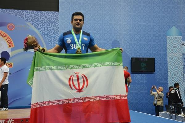 پایان مسابقات وزنه برداری دسته 105 کیلوگرم قهرمانی آسیا-تاشکند