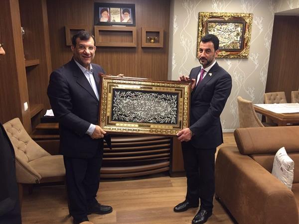 بازدید وزیر ورزش عراق از امکانات فدراسیون وزنه برداری