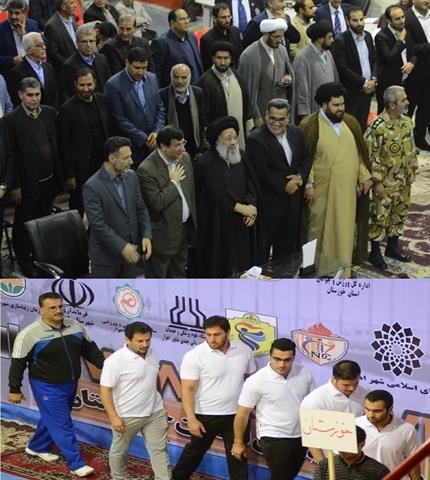 برگزاری افتتاحیه مسابقات وزنه برداری بزرگسالان با حضور آیت الله موسوی جزایری