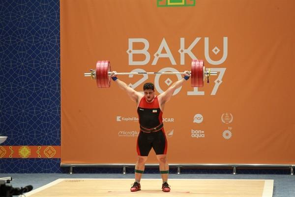 آخرین روز رقابت وزنه برداری بازی های همبستگی کشورهای اسلامی- باکو