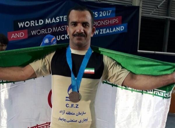 ششمین مدال وزنه برداری در المپیک پیشکسوتان -نیوزیلند