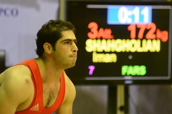 پایان رقابت های دسته 77 کیلوگرم قهرمانی کشور