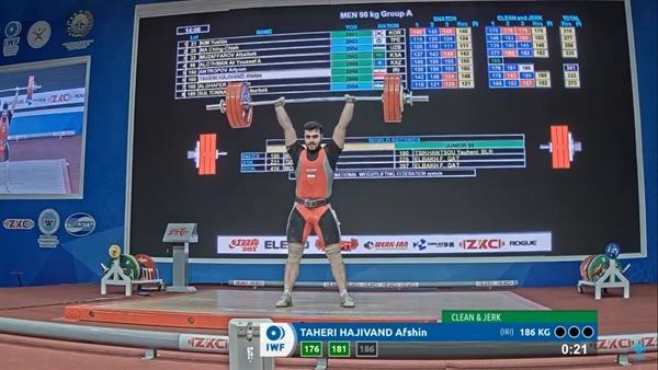 یک مدال طلا و دو نشان نقره برای طاهری/ کسب اولین طلای برای وزنهبرداری ایران در ازبکستان