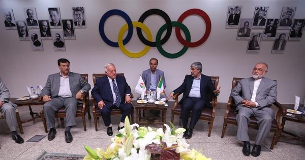 دیدار تاماش آیان با رییس کمیته ملی المپیک