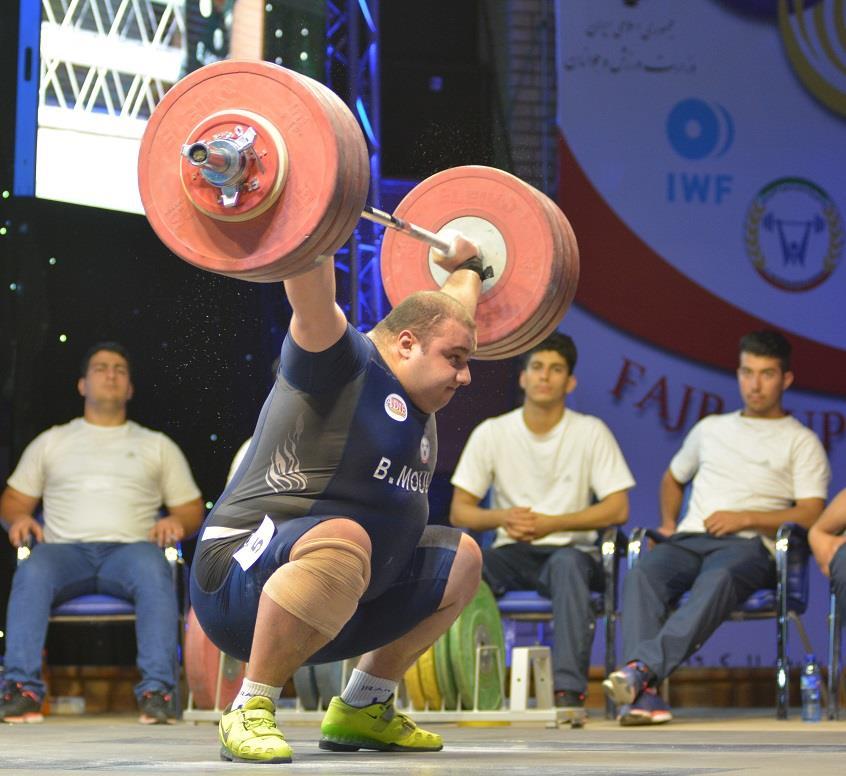 خاتمه  رقابتهای وزنه برداری قهرمانی آسیا با درخشش مولایی