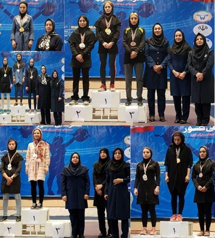 نتایج مسابقات روز اول رقابتهای وزنه برداری قهرمانی بانوان کشور