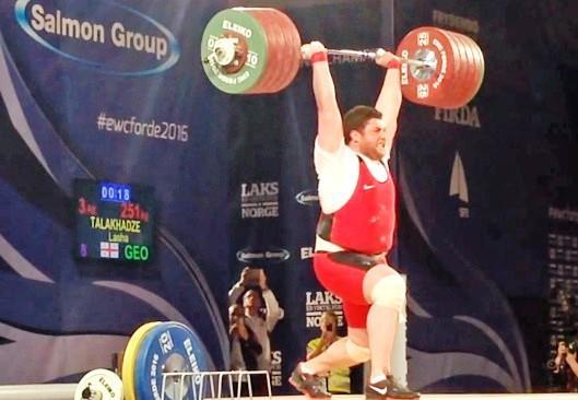 وزنه بردار فوق سنگین گرجستان بهترین وزنه بردار شد