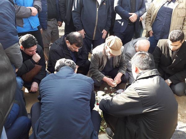 پیکر سید تقی روحانی به خاک سپرده شد