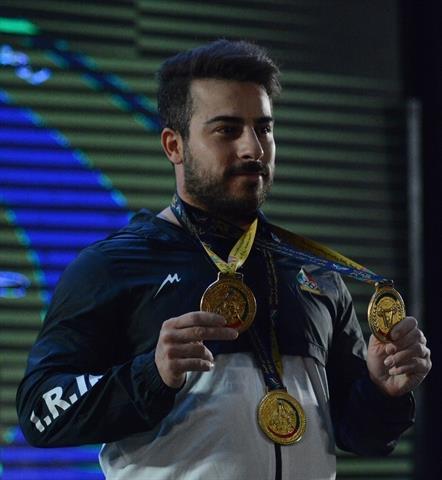 رستمی سه مدال طلا را کسب کرد